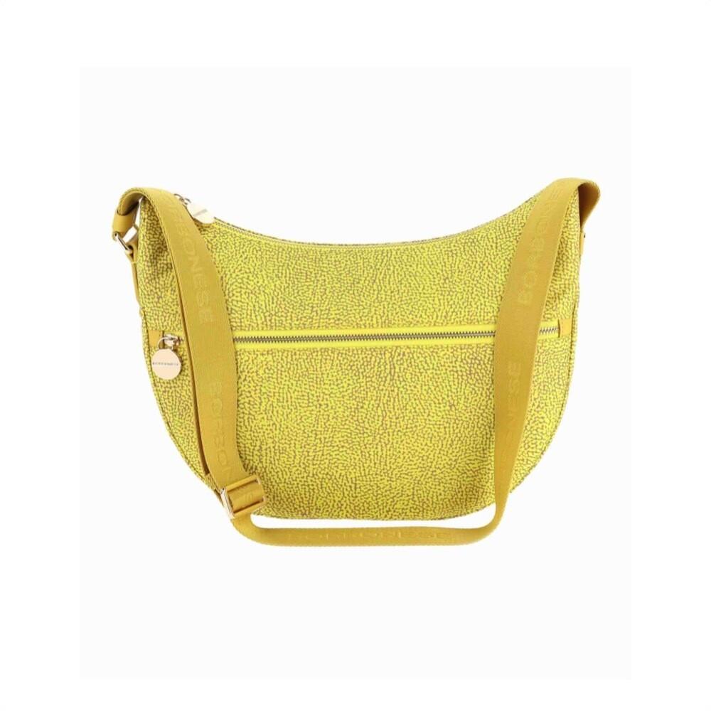 BORBONESE - Luna Bag Middle in Nylon Jet OP - Yellow