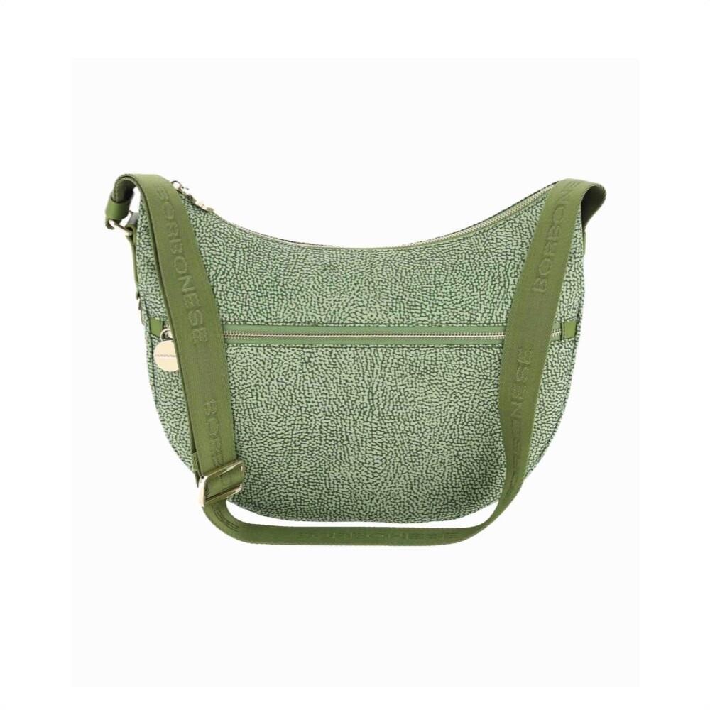 BORBONESE - Luna Bag Middle in Nylon Jet OP - Military Green