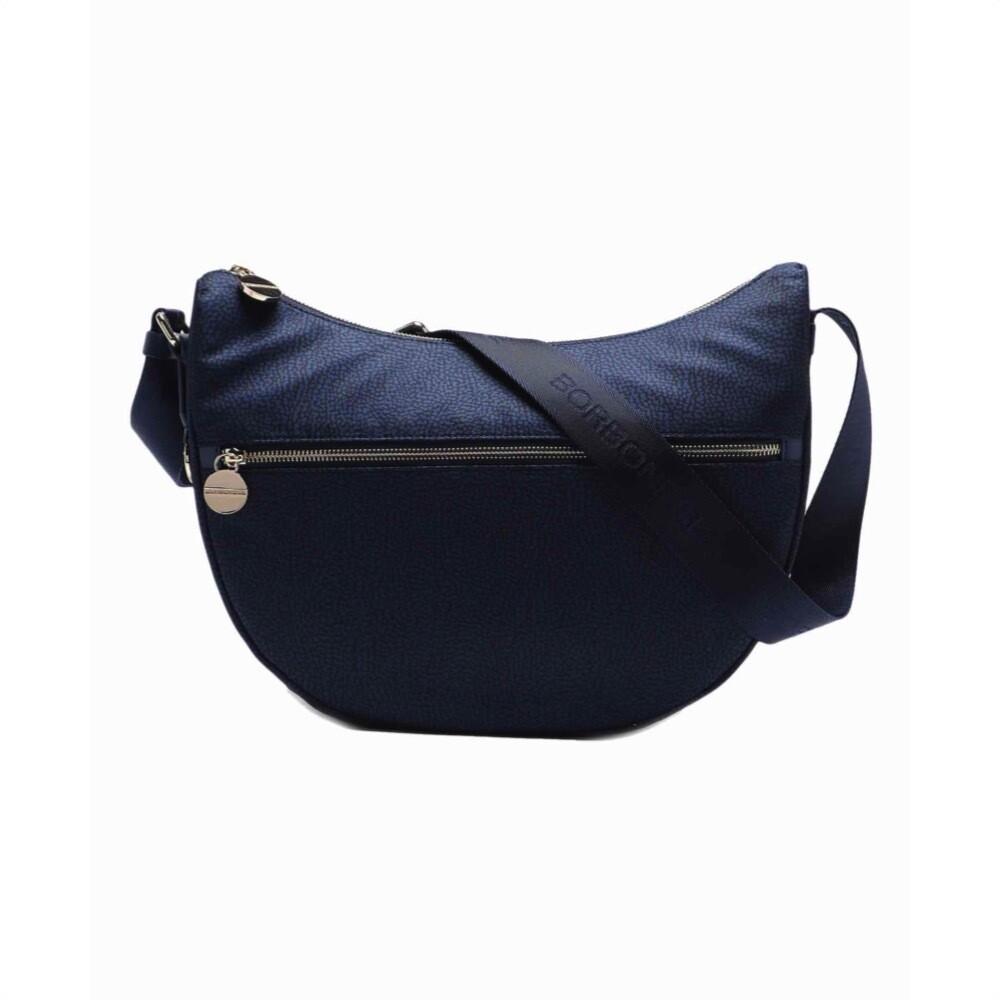 BORBONESE - Luna Bag Middle in Nylon Jet OP - Blue