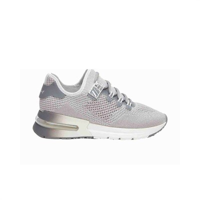 ASH - Krush Lurex Sneakers - Grey/Silver/White