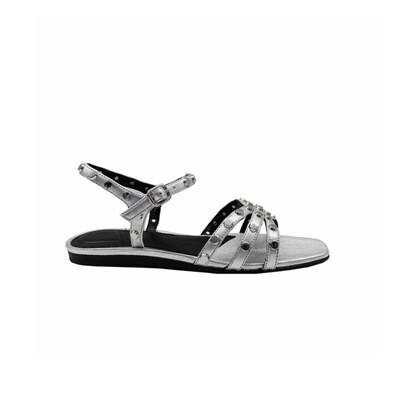 WHAT FOR - Wilde Flat sandalo basso con borchie - Silver