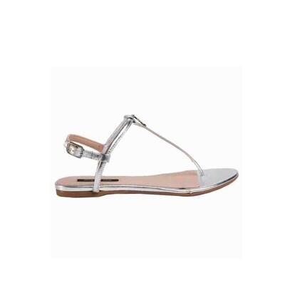PATRIZIA PEPE - Sandalo infradito - Silver