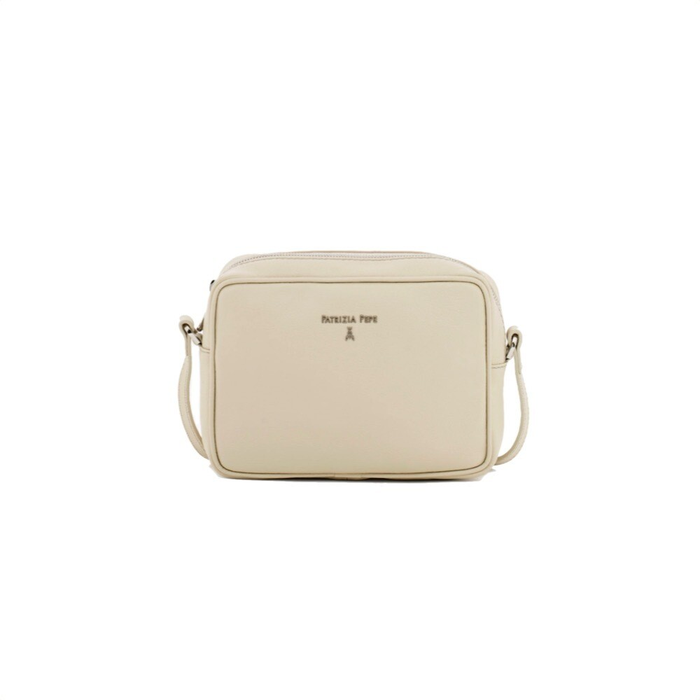 PATRIZIA PEPE - Camera Bag in pelle - Ivory