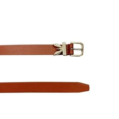 PATRIZIA PEPE - Cintura Clachette vita alta in pelle - Canyon Brown