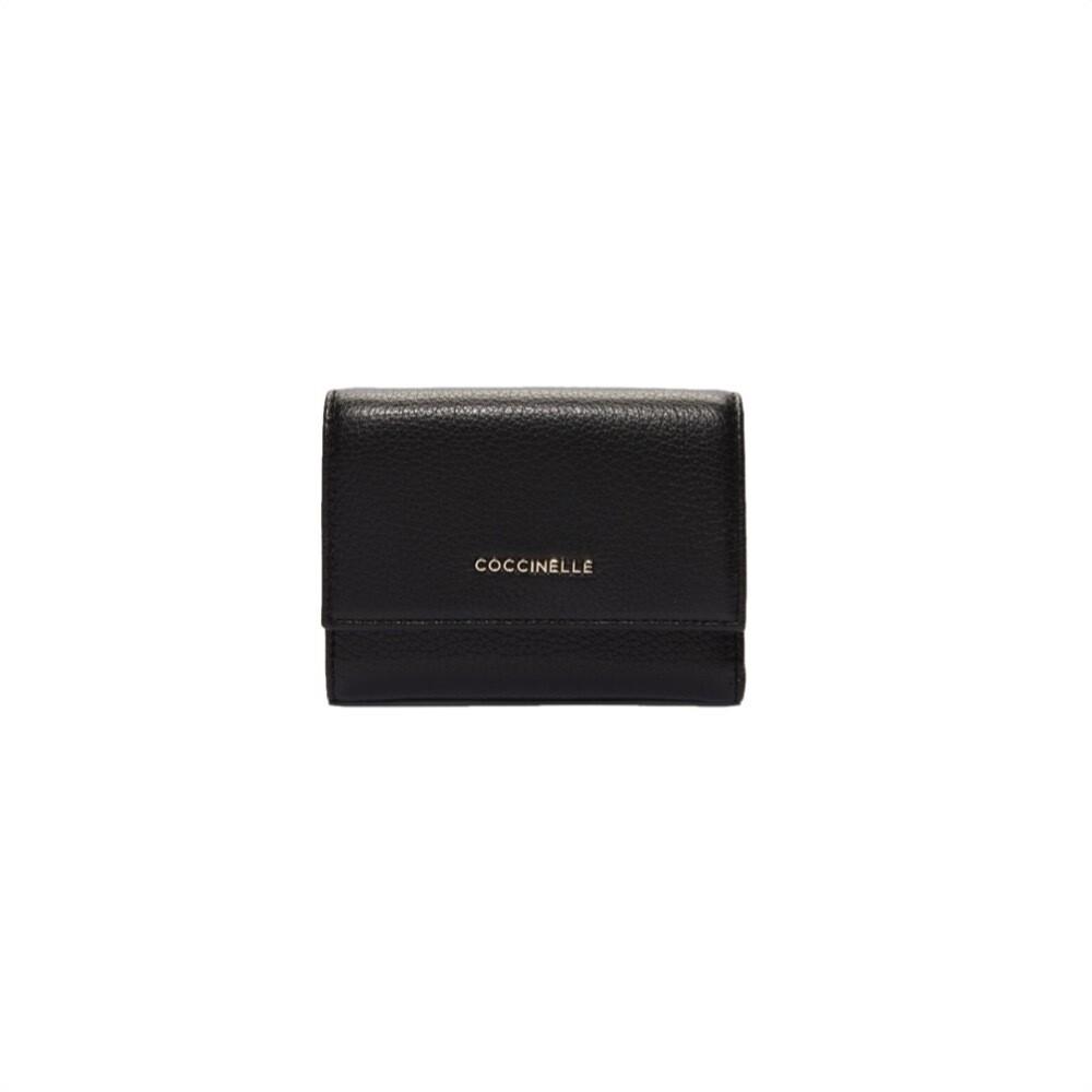 COCCINELLE - Metallic Soft Portafoglio medio - Noir