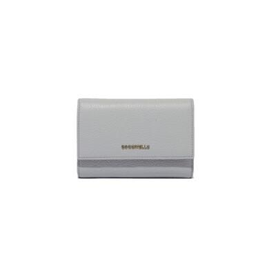 COCCINELLE - Metallic Soft Portafoglio Medio - Dolphin