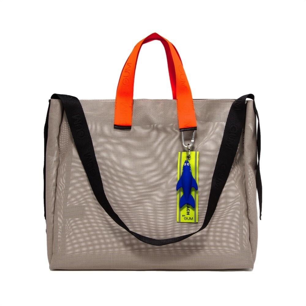GUM - Shopper in rete All You Need Is Beach L - Beige/Arancio