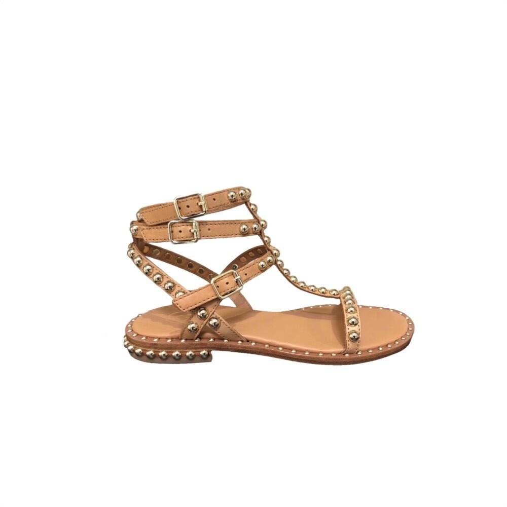 ASH - Play Sandalo con borchie - Nude/Gold Studs