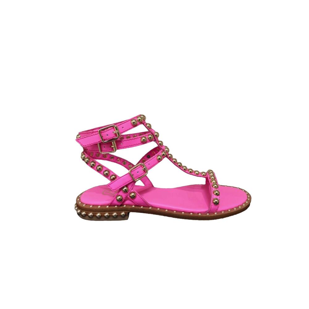 ASH - Play Sandalo con borchie - Deep Pink/Gold Studs