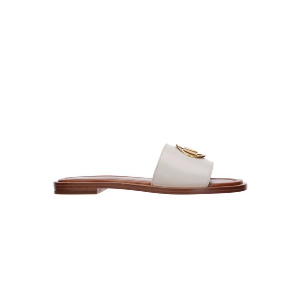 MICHAEL KORS - Brynn ciabatta in pelle - Light Cream