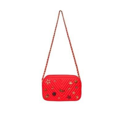MIA BAG - Tracollina Zip Studs Lux Personalizzabile - Rosso