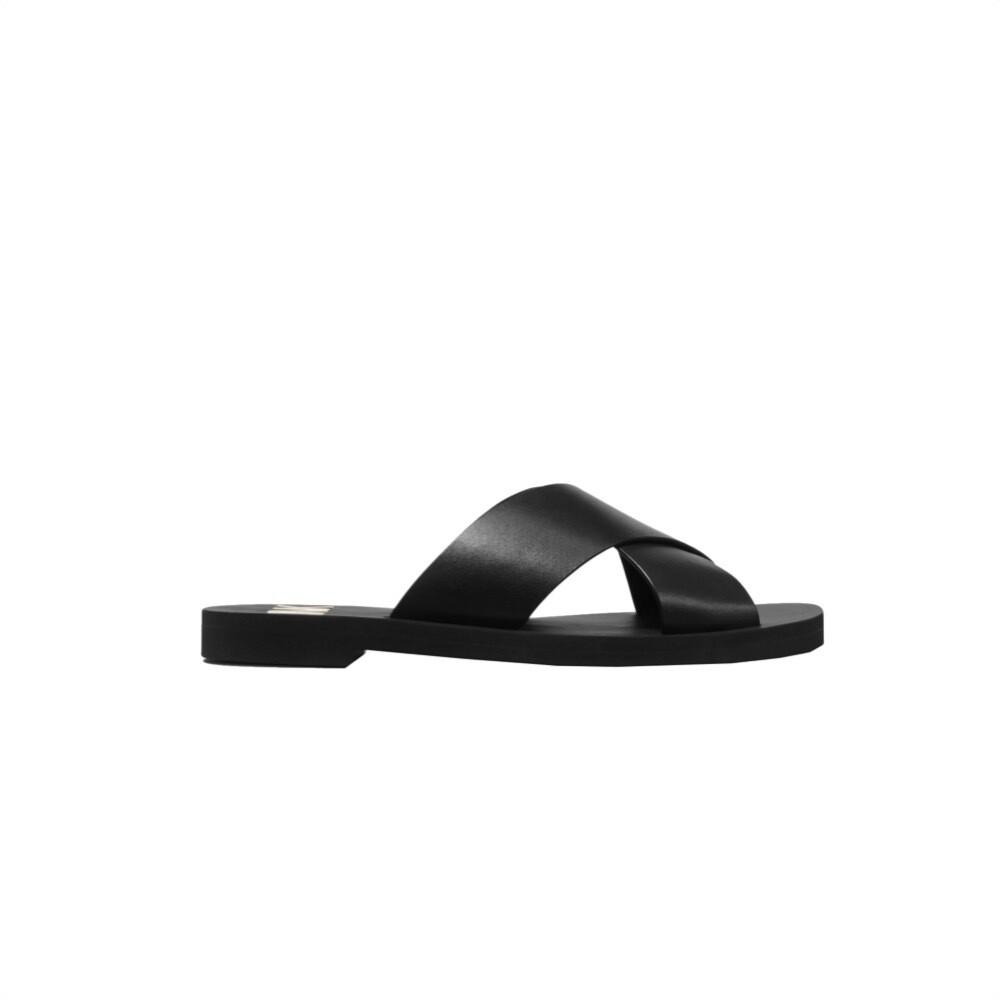 MICHAEL KORS - Glenda Slide in pelle - Black
