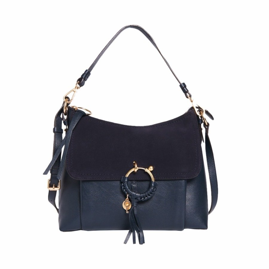 SEE BY CHLOÉ - Joan Medium Shoulder Bag - Ultramarine