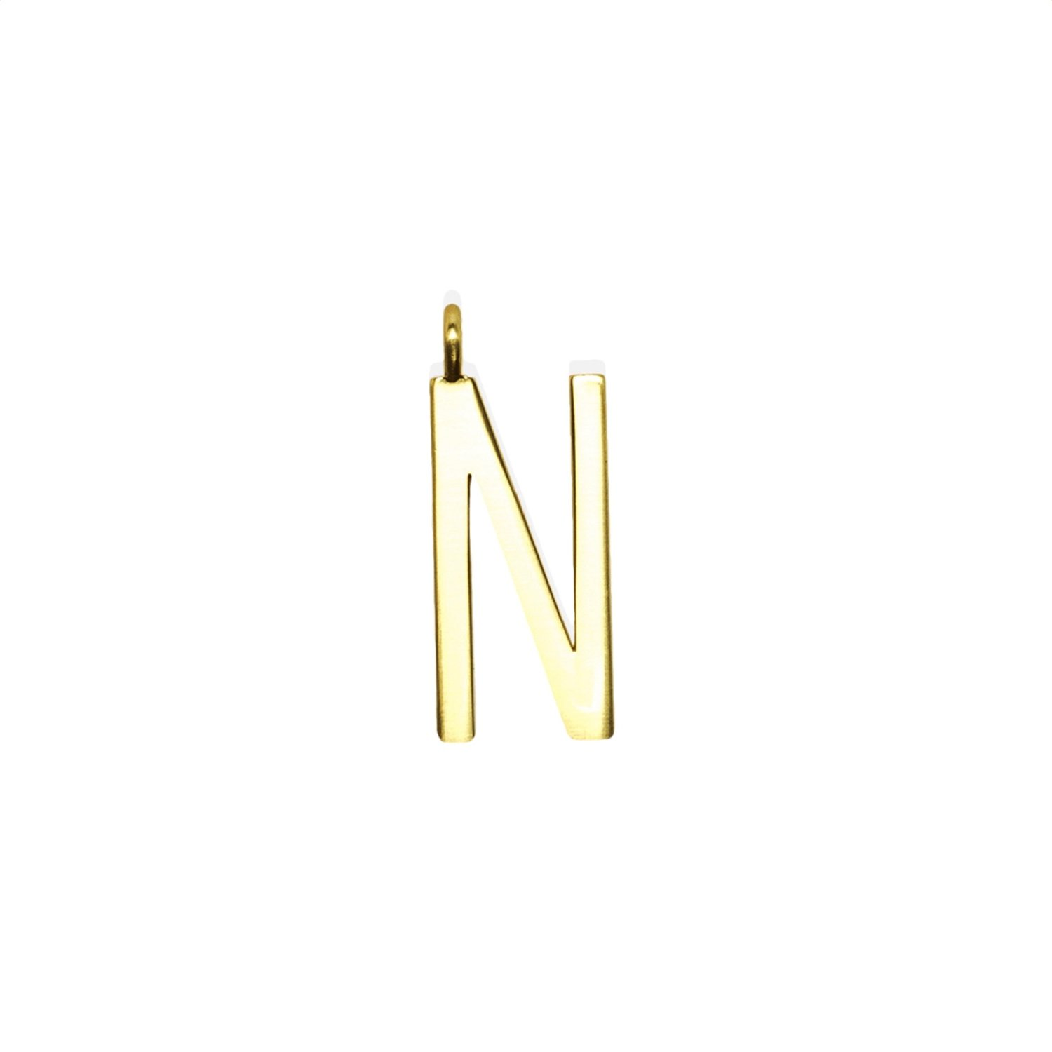 """GUM - Charms Pendente Lettera """"N"""" - Gold"""