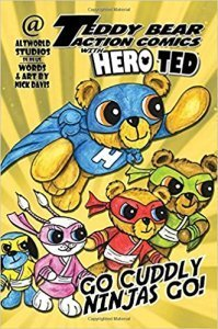 Teddy Bear Action Comics With Hero Ted