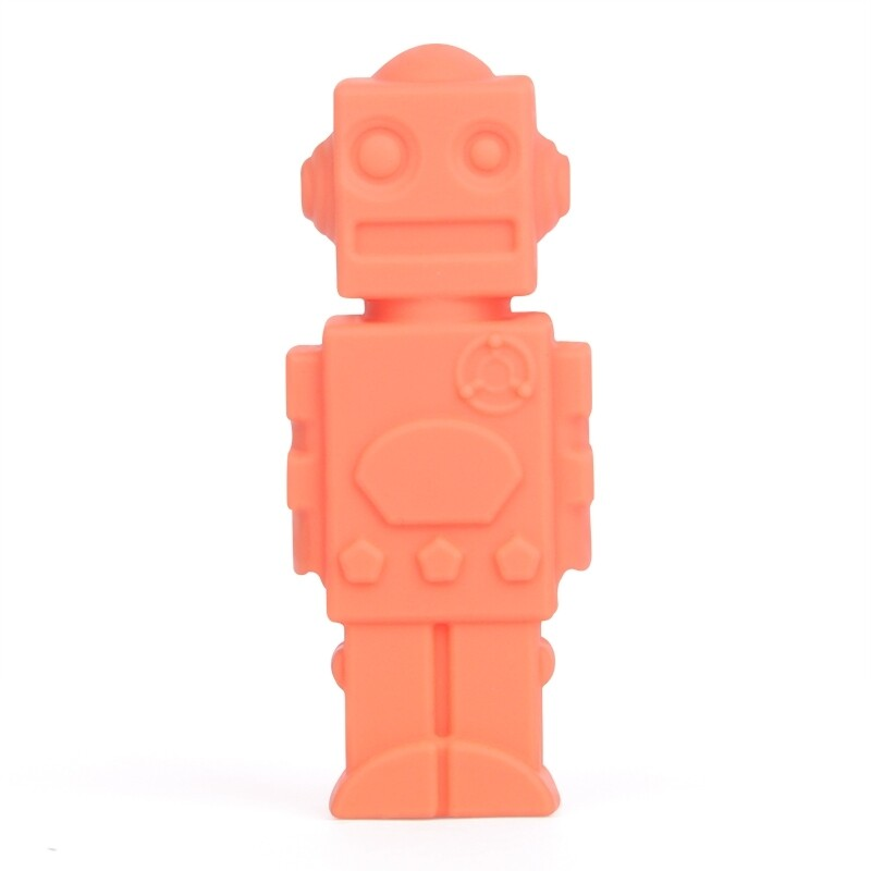 Orange Robot Pencil Topper