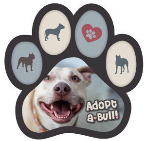 Adopt a Bull Paw Magnet