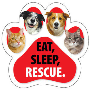 Eat, Sleep Rescue Magnet