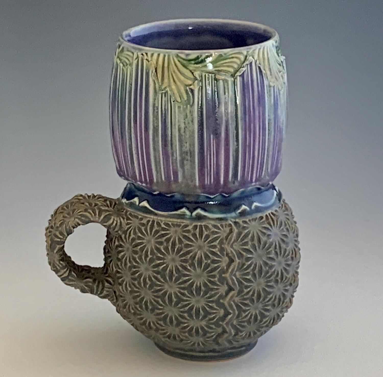 Lady Latte in purple, twilight, purple & grey