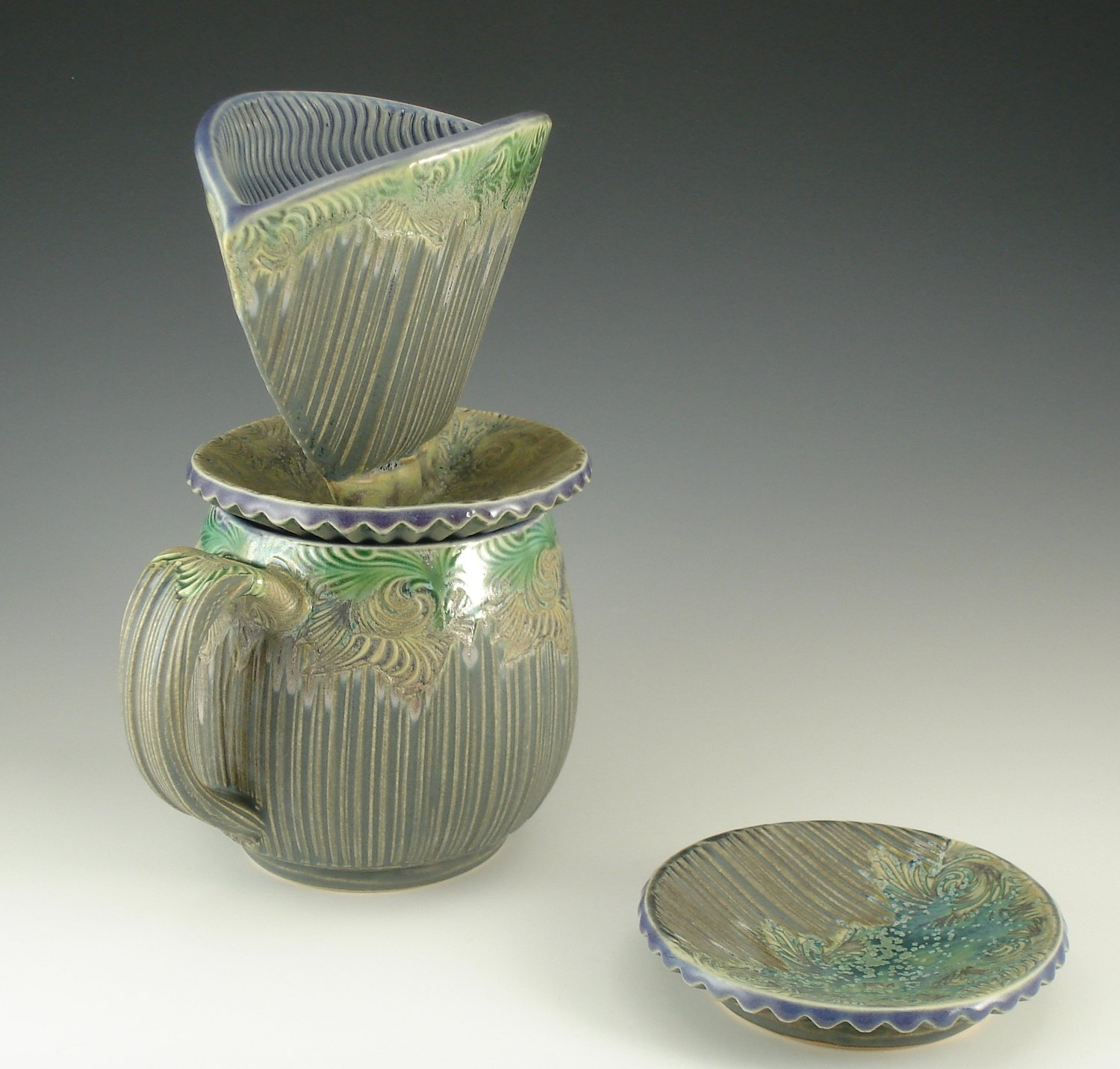 Oregon Cup with Personal Pour-over in grape, watered twilight & grey