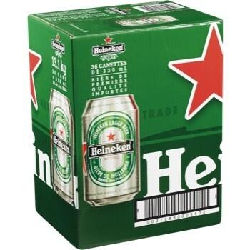 Heineken 36 Canettes 47,99$