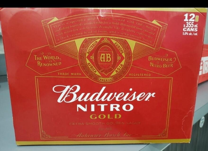 Budweiser Nitro Gold 20.99$