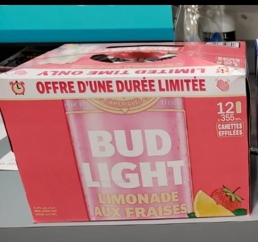 Bud Light Limonade aux Fraises 20.99$