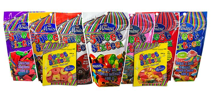 Bonbon Sweet Sixteen au choix 1.99$