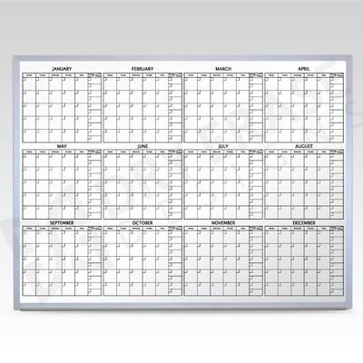 Custom 12 Month Whiteboard Calendar 48 x 60 At A Glance