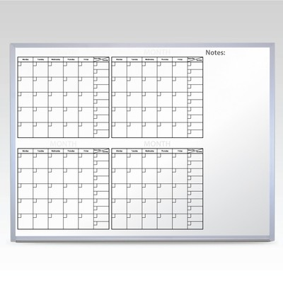 Custom 4 Month Whiteboard Calendar 36 x 48 At A Glance
