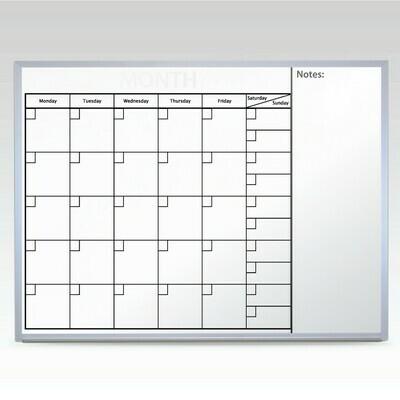 Custom Monthly Whiteboard Calendar 36 x 48 At A Glance