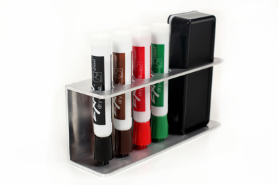 Decorative Marker Holder for Dry Erase Whiteboard Markers and Erasers