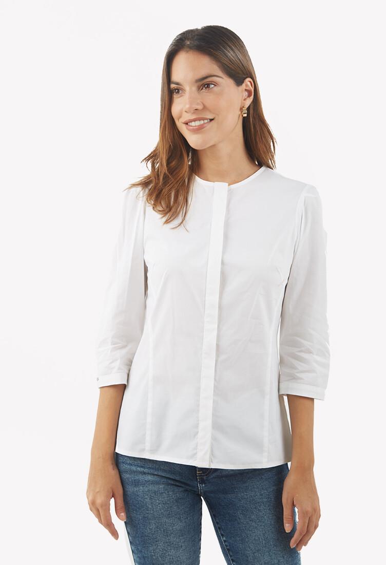 Blusa manga 3/4 color blanco