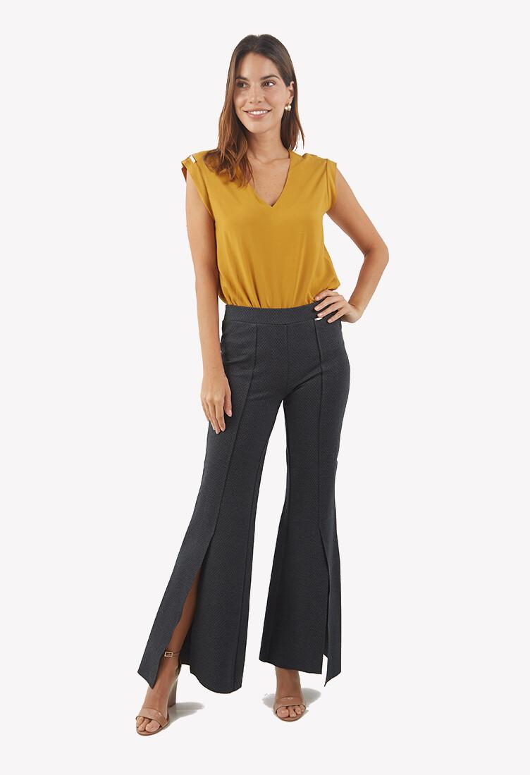 Pantalon Flersh color gris
