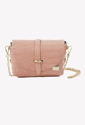 Petit bag de cuero color rosado