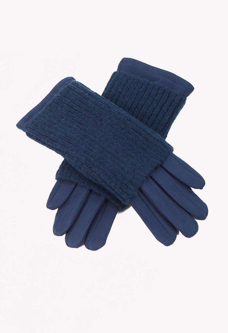 Guantes color azul marino