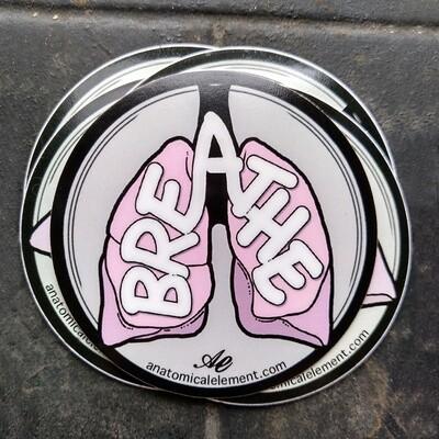 Anatomical Element BREATHE Lungs Sticker