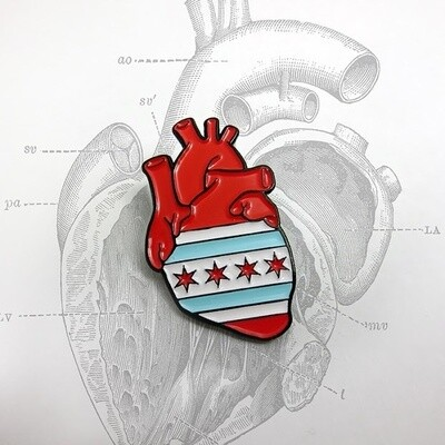 Anatomical Element CHICAGO Heart Pin