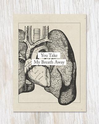 You Take My Breath Away: Anatomy Card