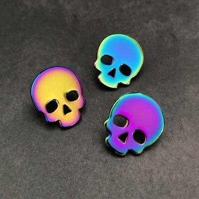 Anodized Skull Pin