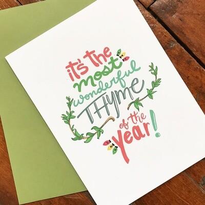 Christmas Thyme Holiday Card