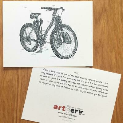 Anatomical Bicycle - Any Occasion Card