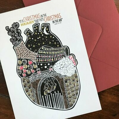 Christmas Heart Holiday Card