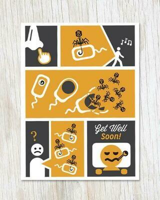 Phage Get Well Card