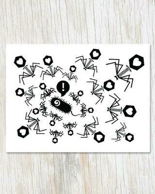 Phage Love Greeting Card