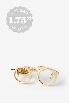Eye Glasses Gold Tie Bar