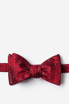 Eye Glasses Red Bow Tie