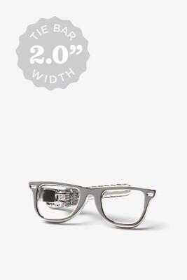 Eyeglasses Silver Tie Bar