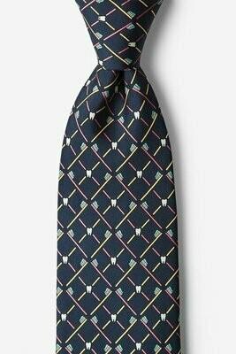 Real Dentists Wear Plaid Gray Silk Tie