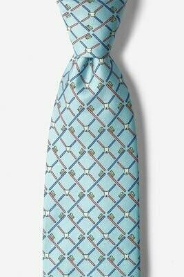 Real Dentists Wear Plaid Light Blue Silk Tie